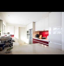 red white kitchens style gallery kitchen kraft